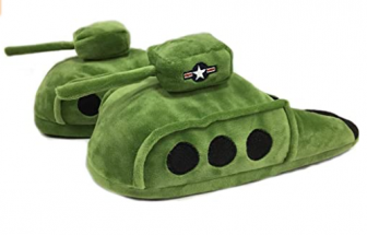 Battle Tank Plush Slippers